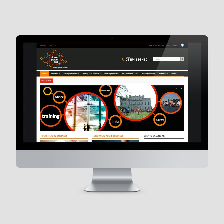 Dorset Growth Hub Web Design