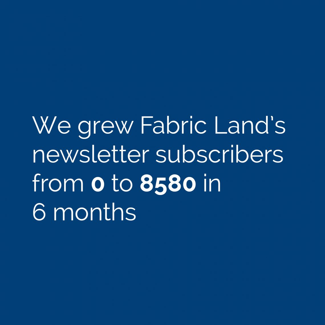 Fabric Land Email Marketing