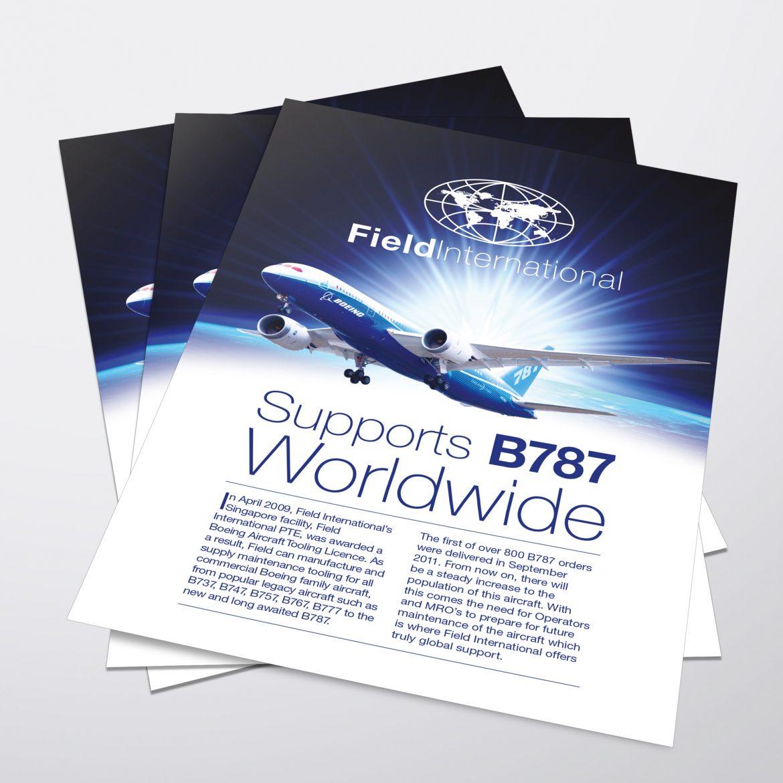 Field International Leaflet Design