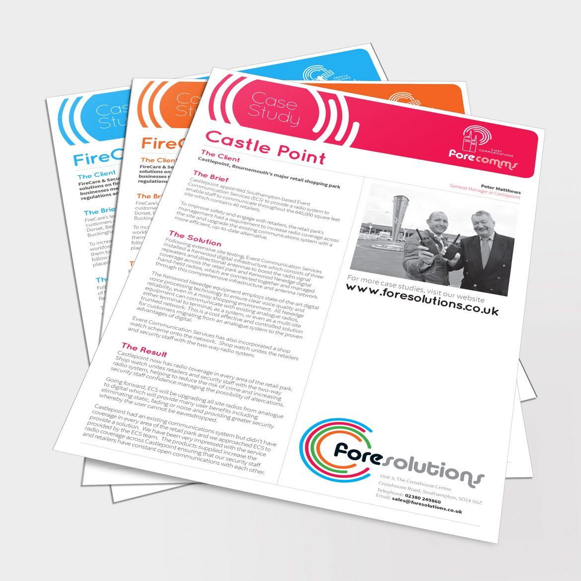 Fore Solutions Leaflet Design