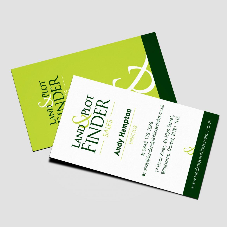 Land & Plot Finder Business Card Design