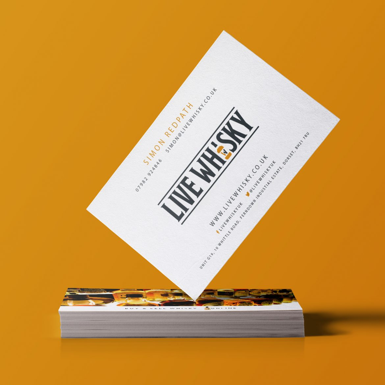 Live Whisky Business Card Design