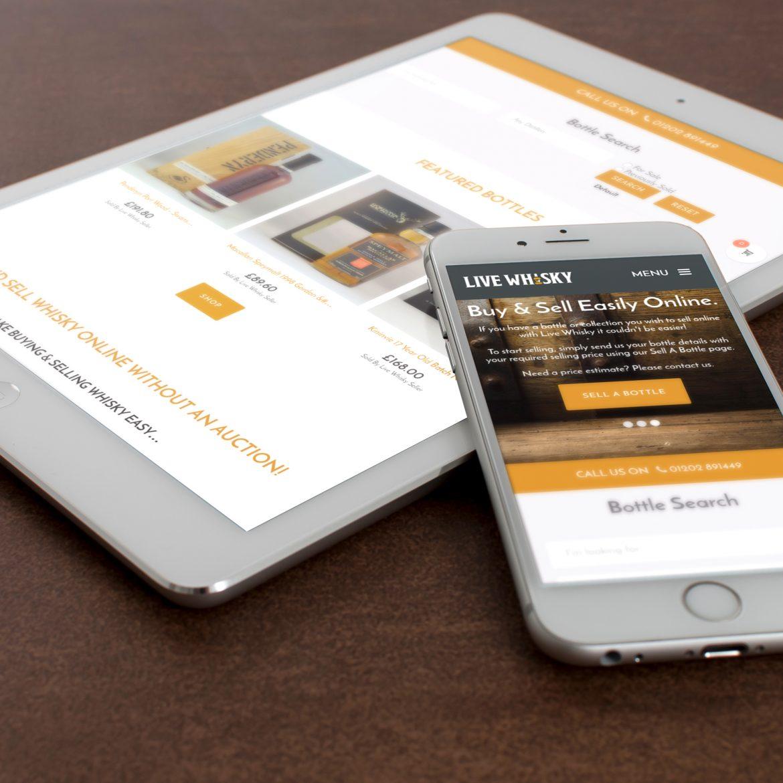 Live Whisky Responsive Web Design