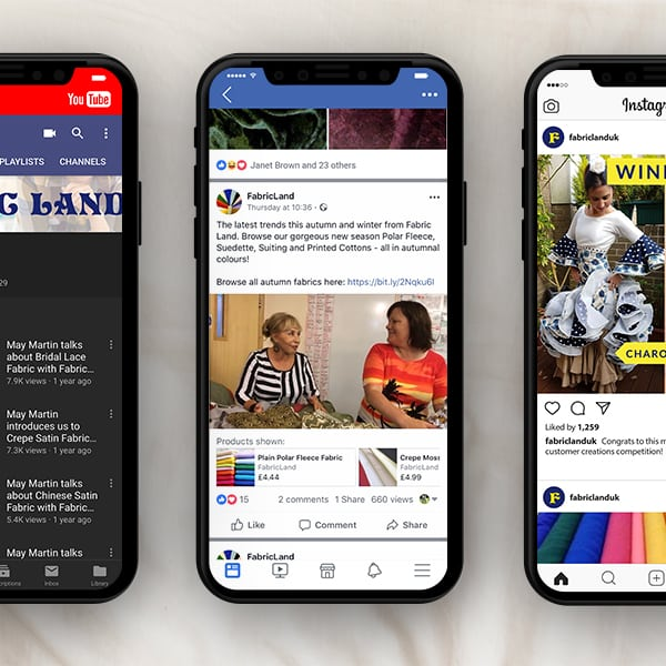 Fabric Land Social Media Management