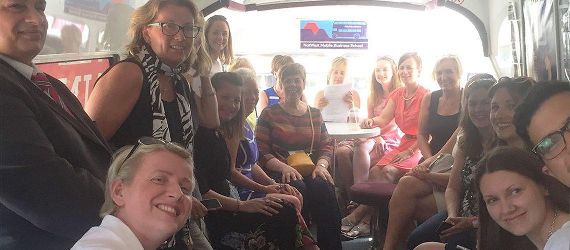 entrepreneurs on the startup bus