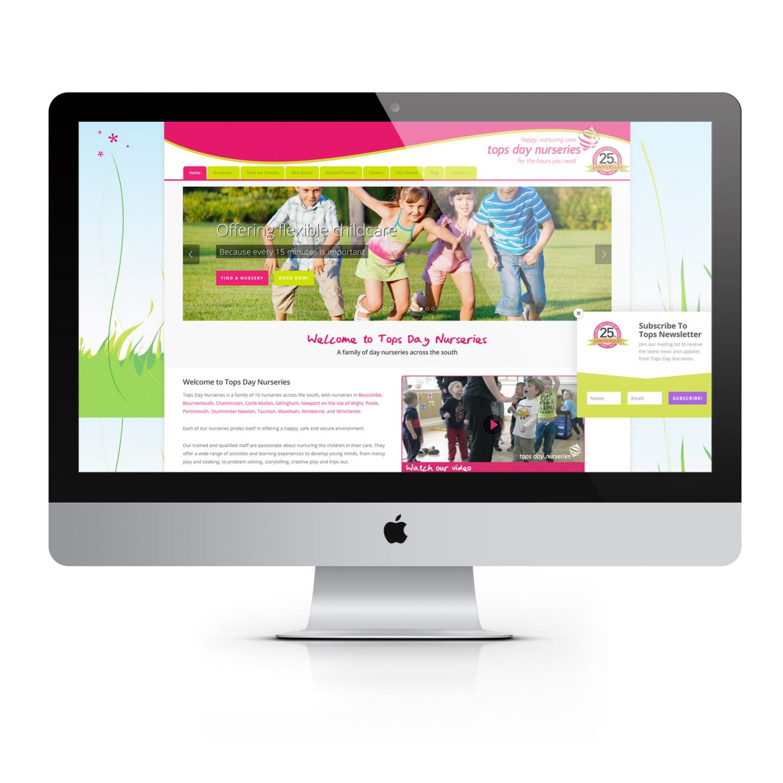Tops Day Nursery Web Design