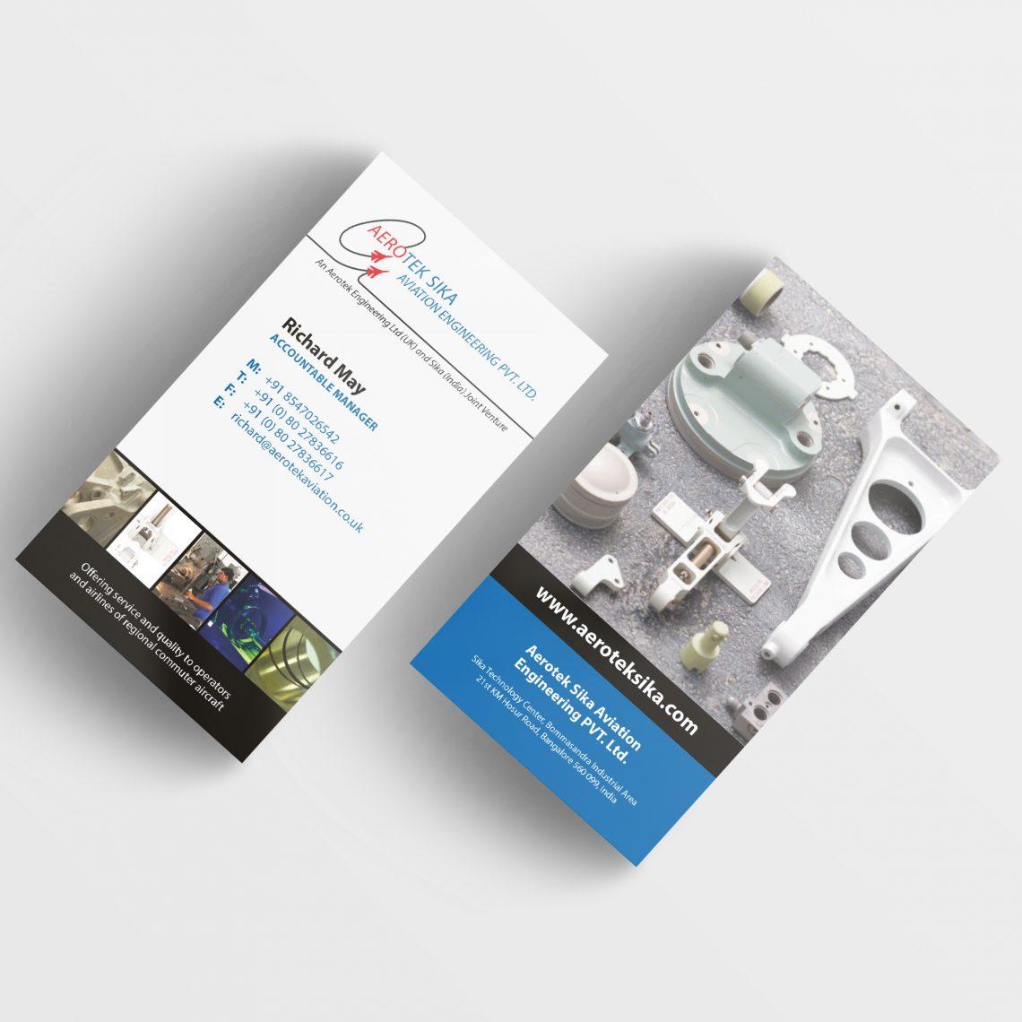 Aerotek Business Card Design