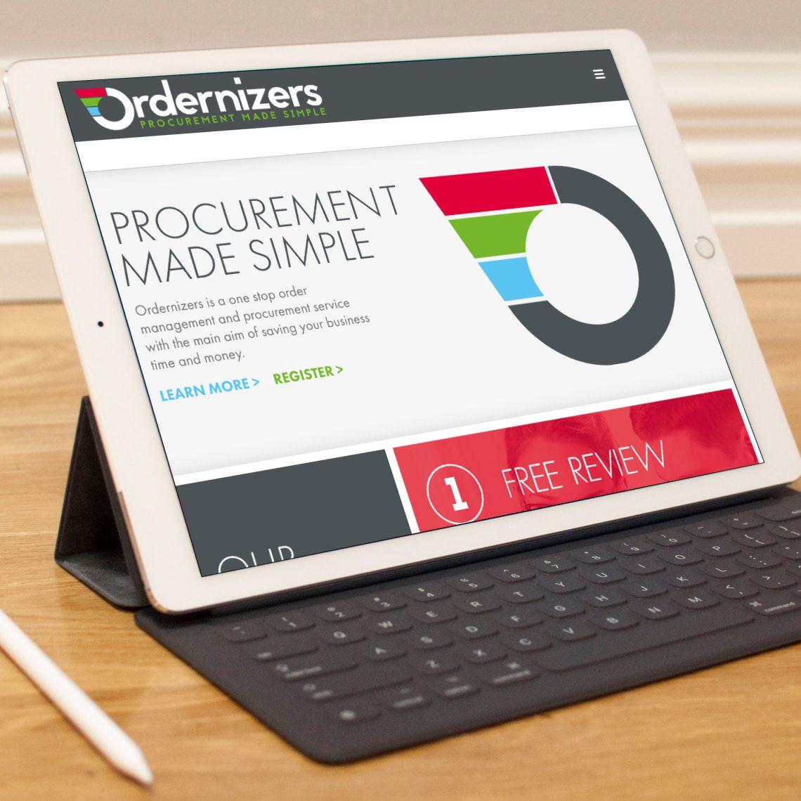 Ordernizers iPad Web Design