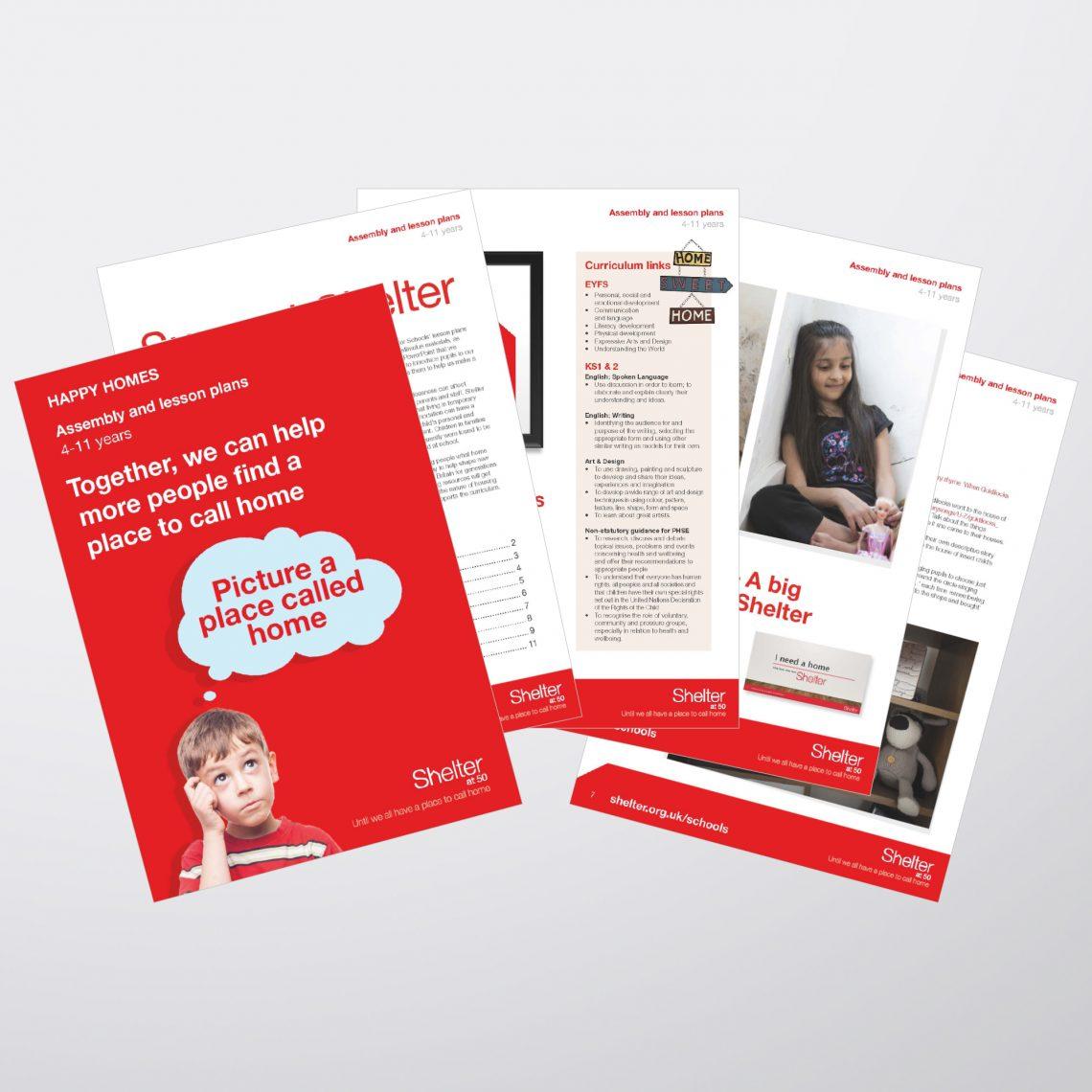 Shelter Leaflet Design