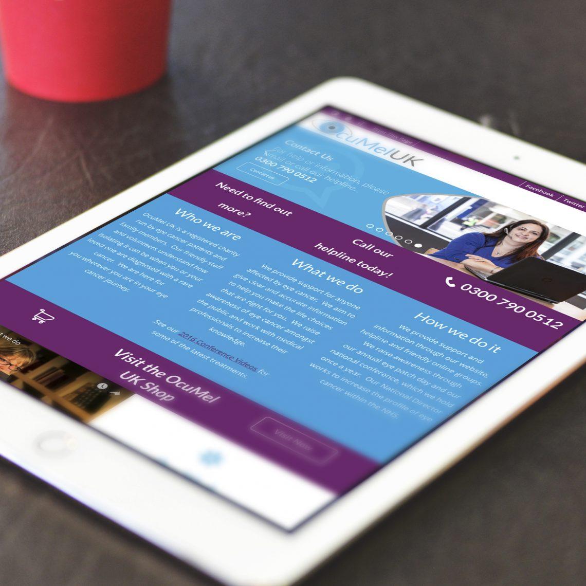 Ocumel iPad Web Design