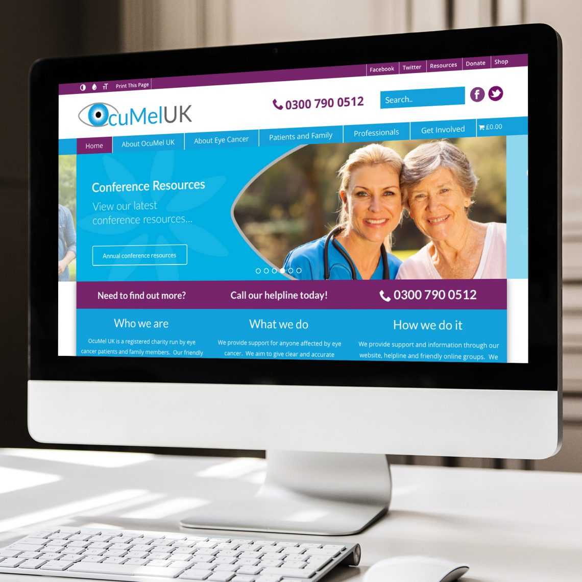 Ocumel Charity Web Design