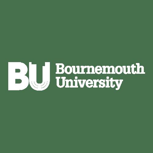 white bournemouth university logo