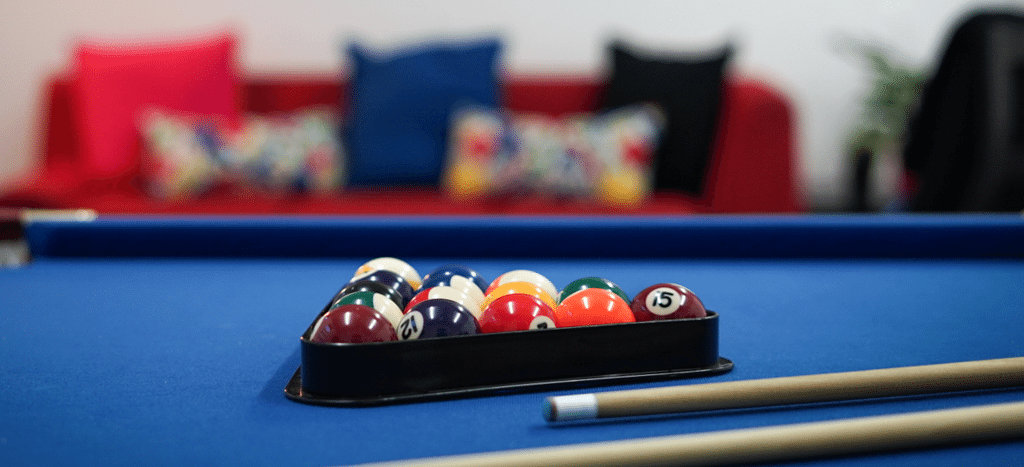 digital storm new office space with a pool table