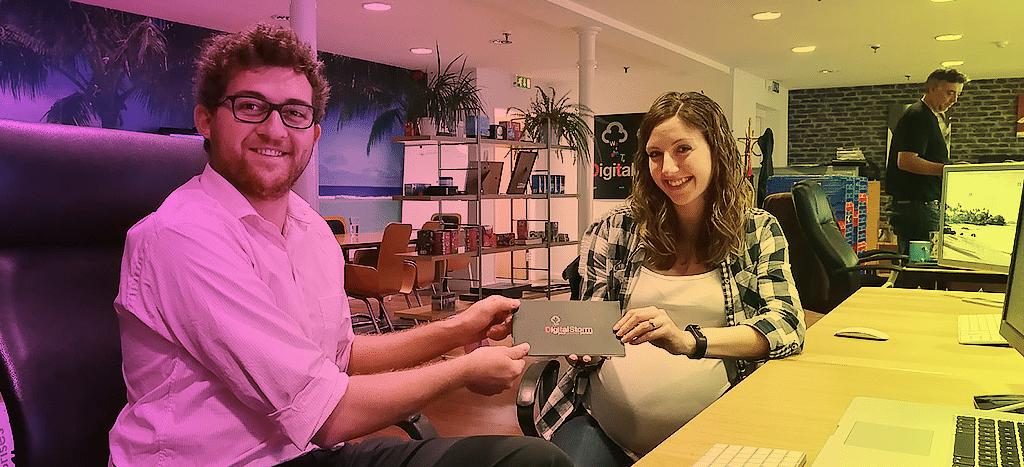 Design team smiling