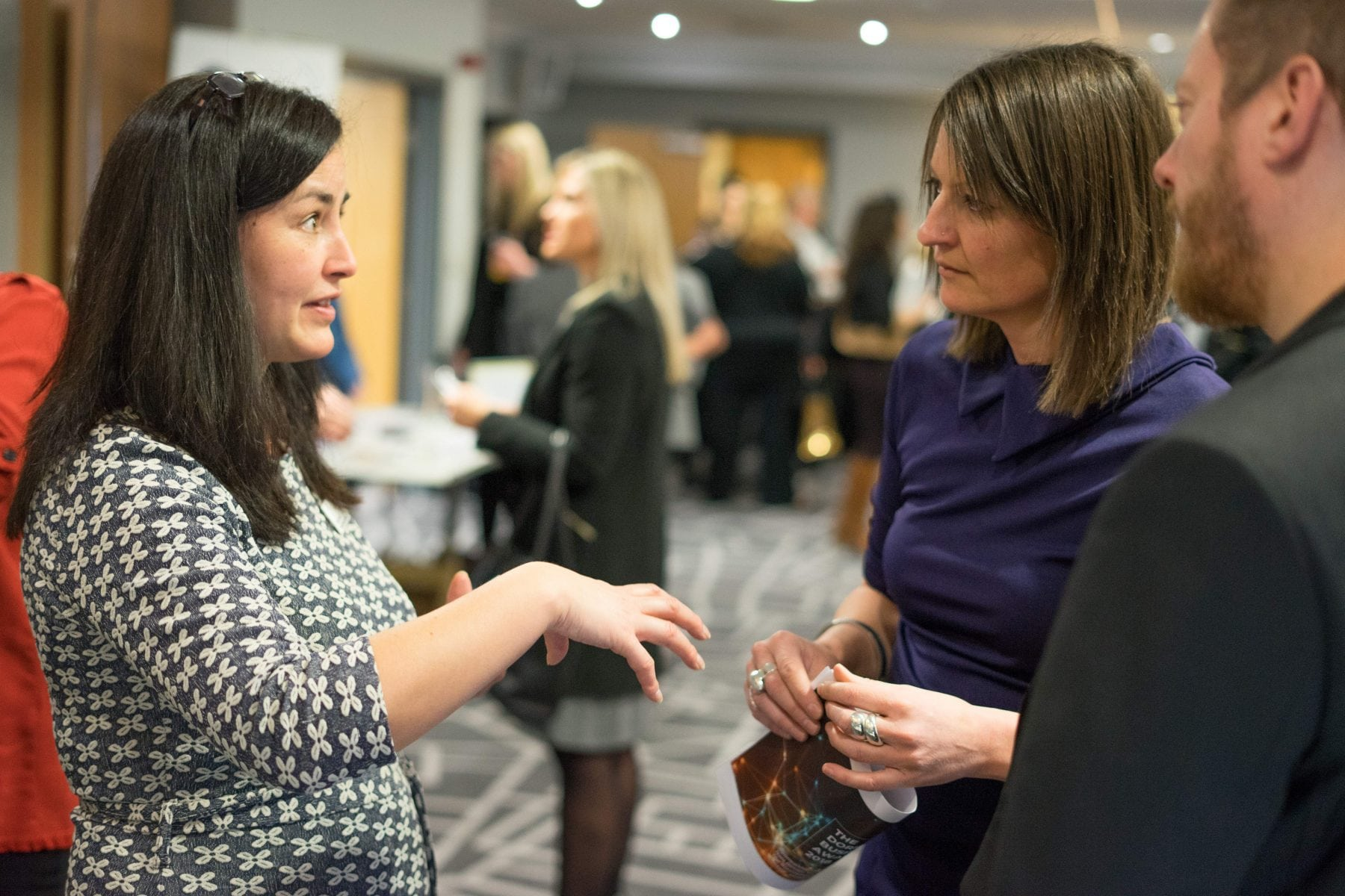 digital storm team at a networking event