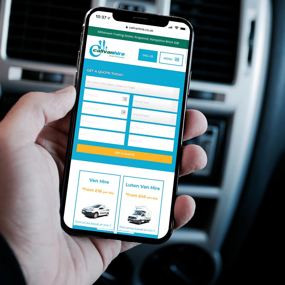 Callvan Hire Mobile Web Design