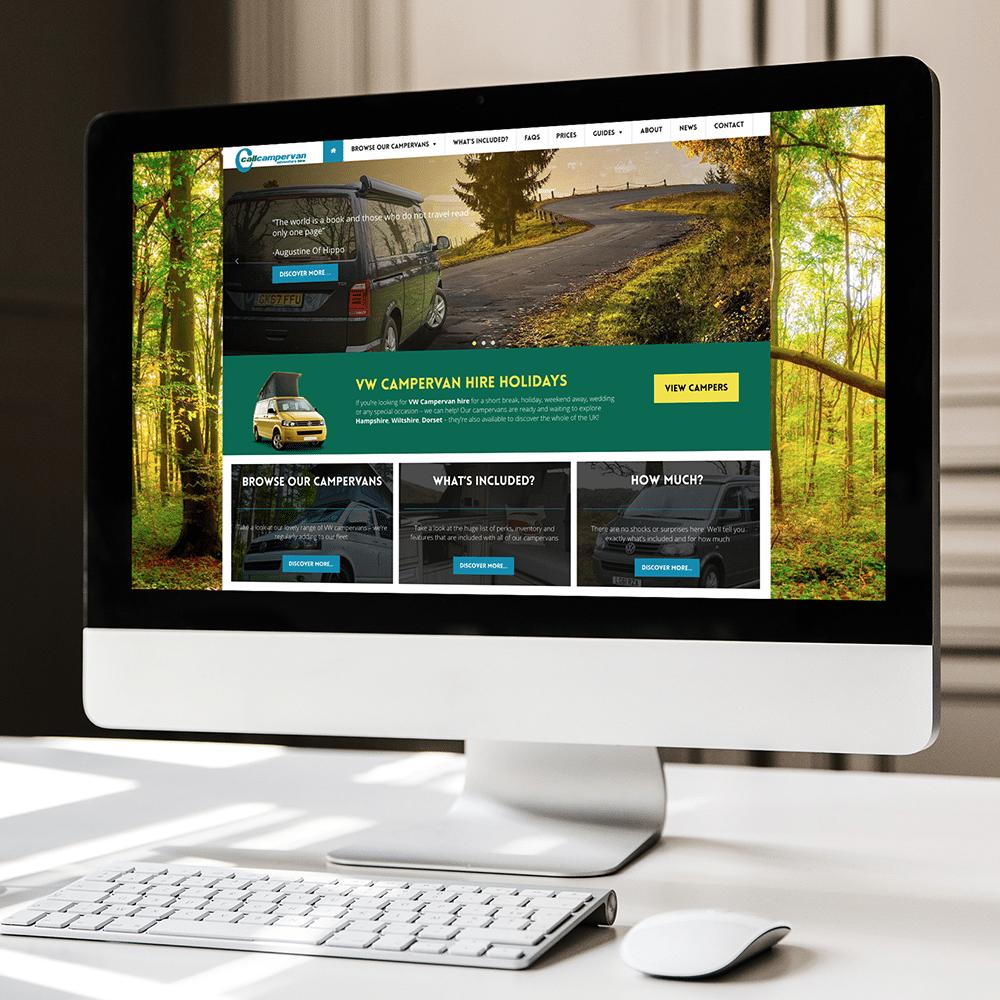 Callcampervan Hire Web Design