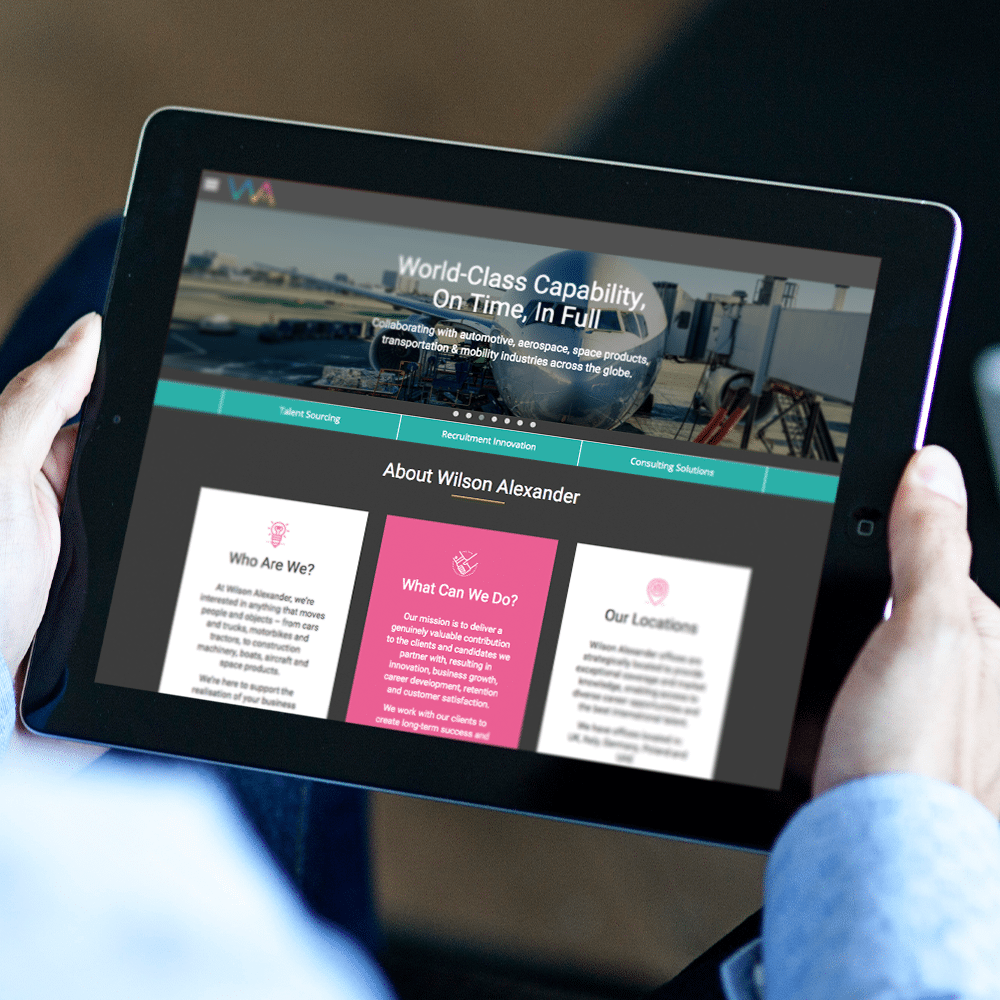 Wilson Alexander iPad Web Design