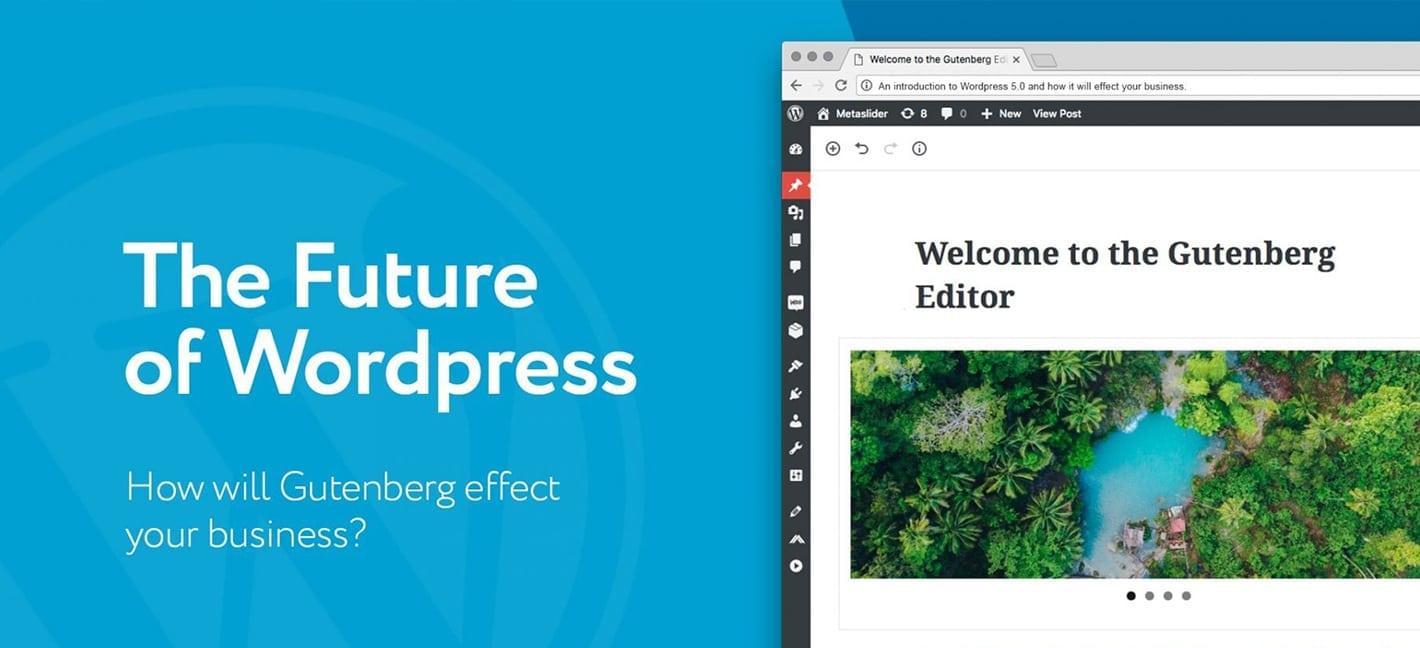 Screenshot of the new WordPress Gutenberg editor