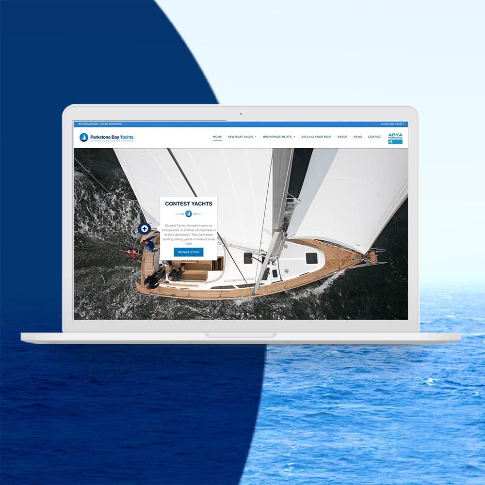 Parkstone Bay Yachts Web Design