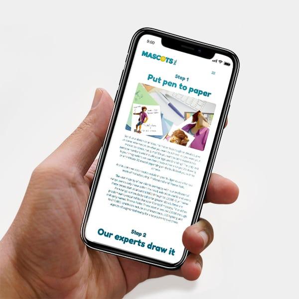 Mascot Mobile Web Design