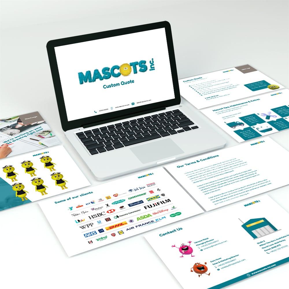 Mascot Marketing and Presentation Materials