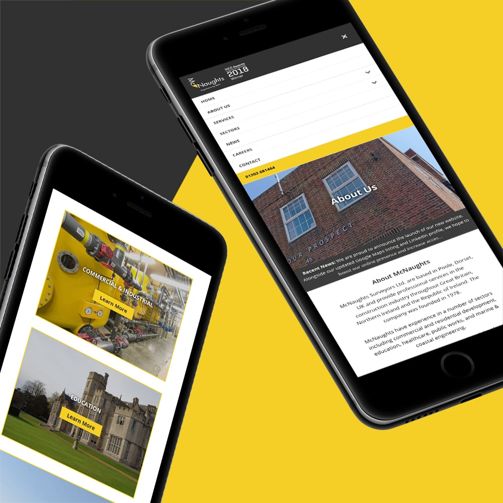 McNaughts iPhone Website Design