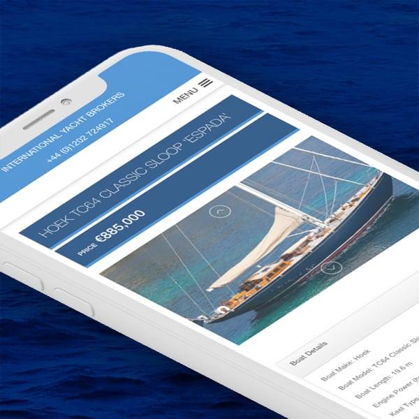 Parkstone Bay Yachts Mobile Web Design