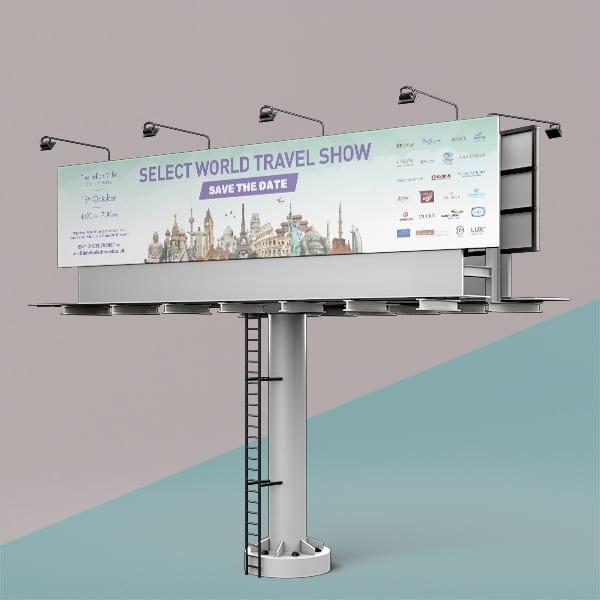 Select World Travel Billboard Advert Design