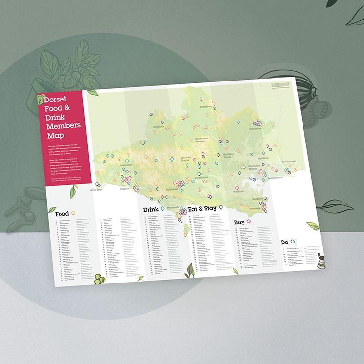 Dorset Food & Drink Map Design