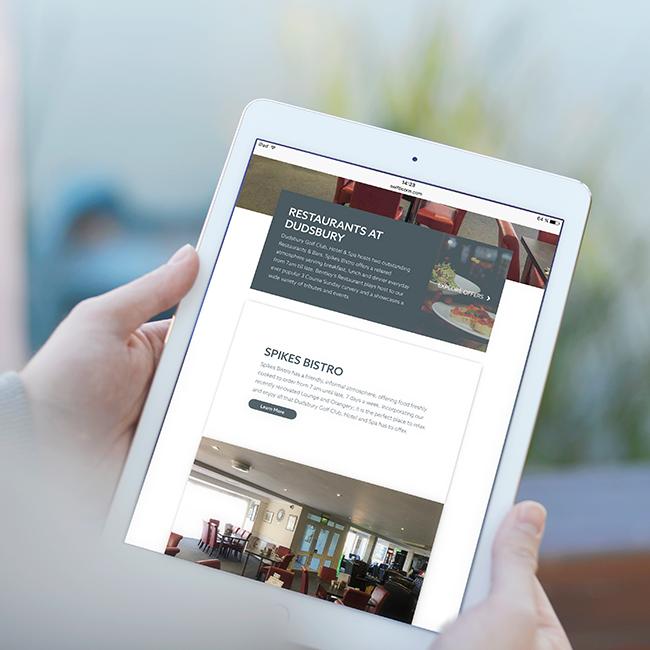 Dudsbury iPad Web Design