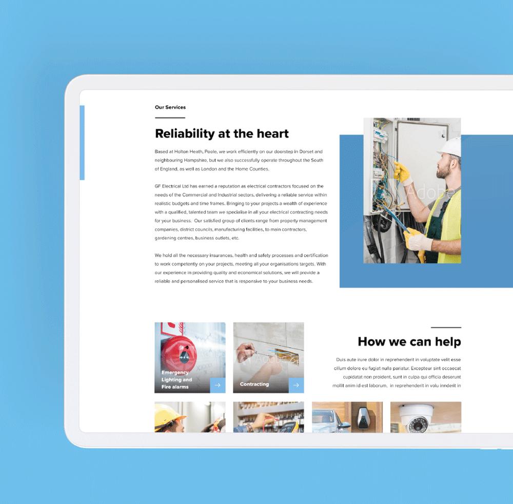 GF Electrical Website Design