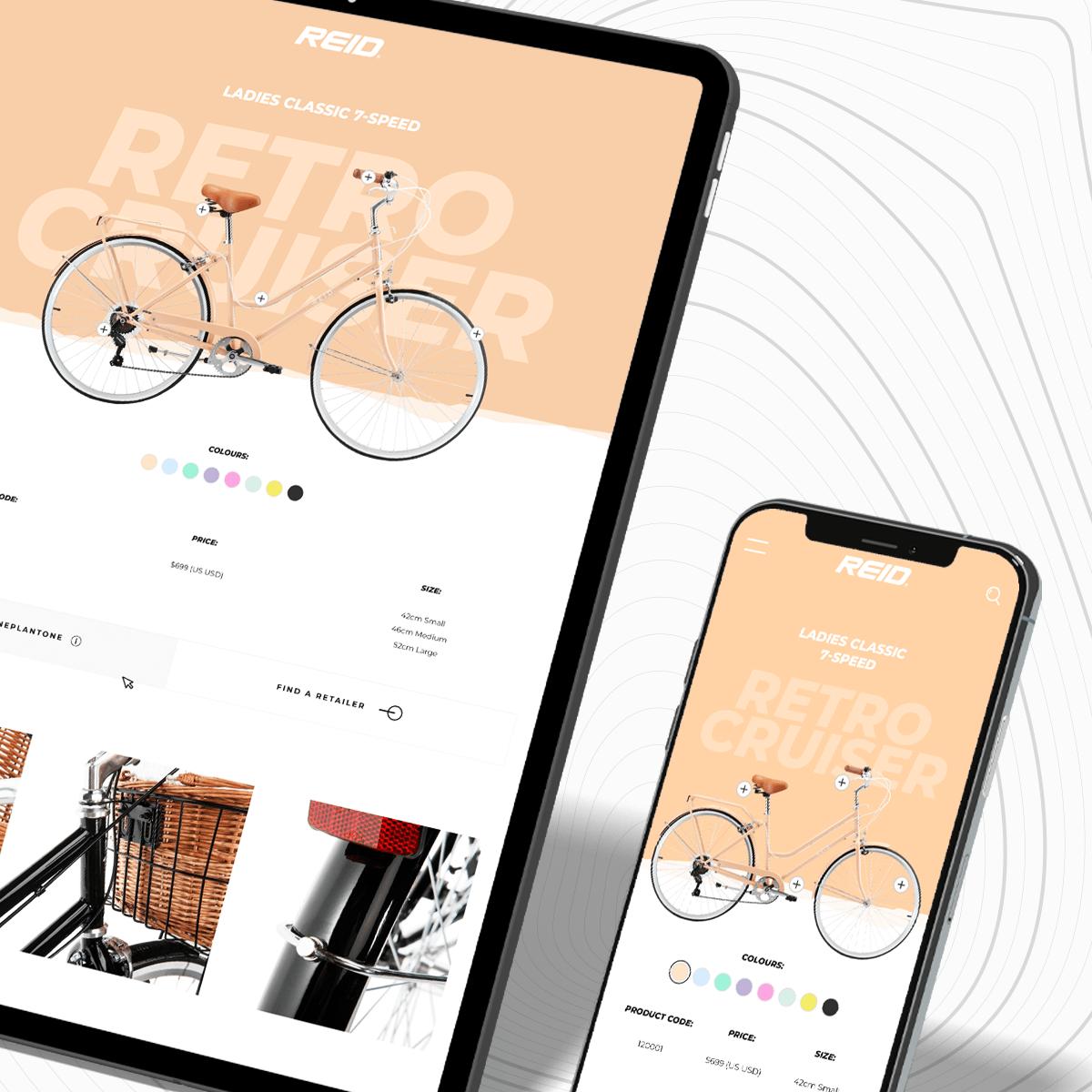 REID Bikes Web Design